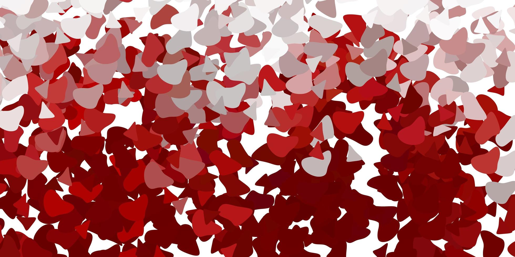 röd mall med abstrakta former. vektor