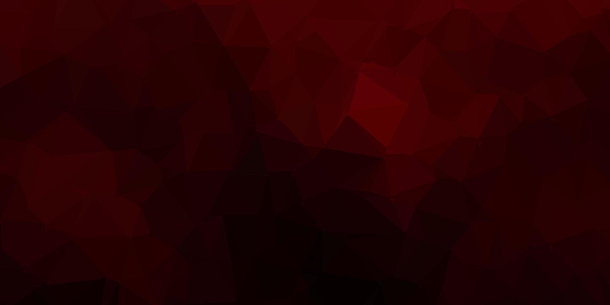 dunkelrotes abstraktes Dreiecksmuster. vektor