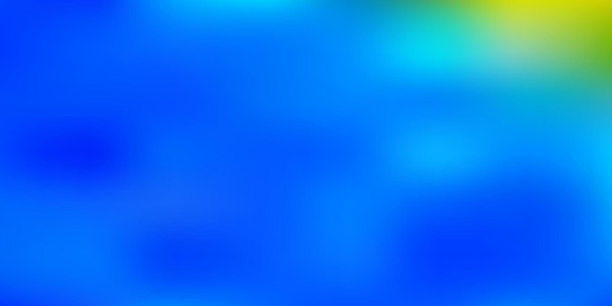 hellblauer, gelber Unschärfehintergrund. vektor