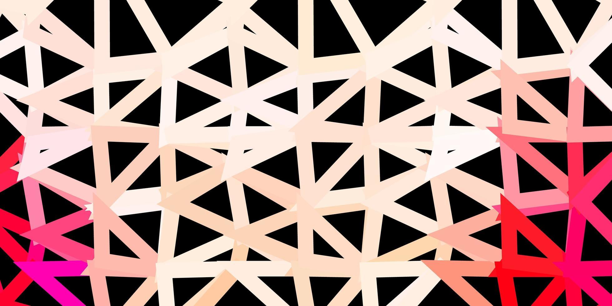 hellroter abstrakter Dreieckhintergrund. vektor