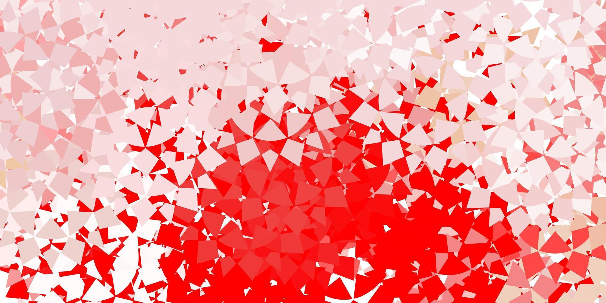 rotes Layout mit Linien, Dreiecken. vektor