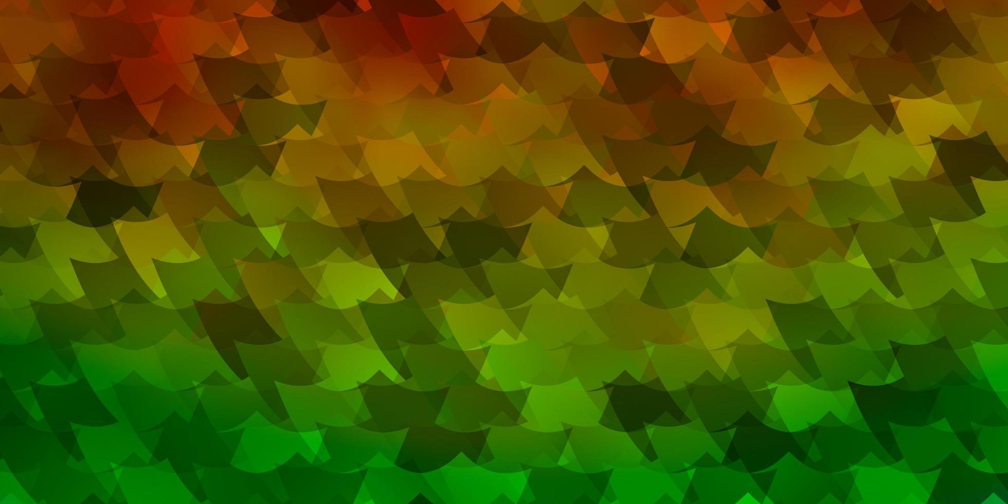 grön, gul mall med rektanglar. vektor