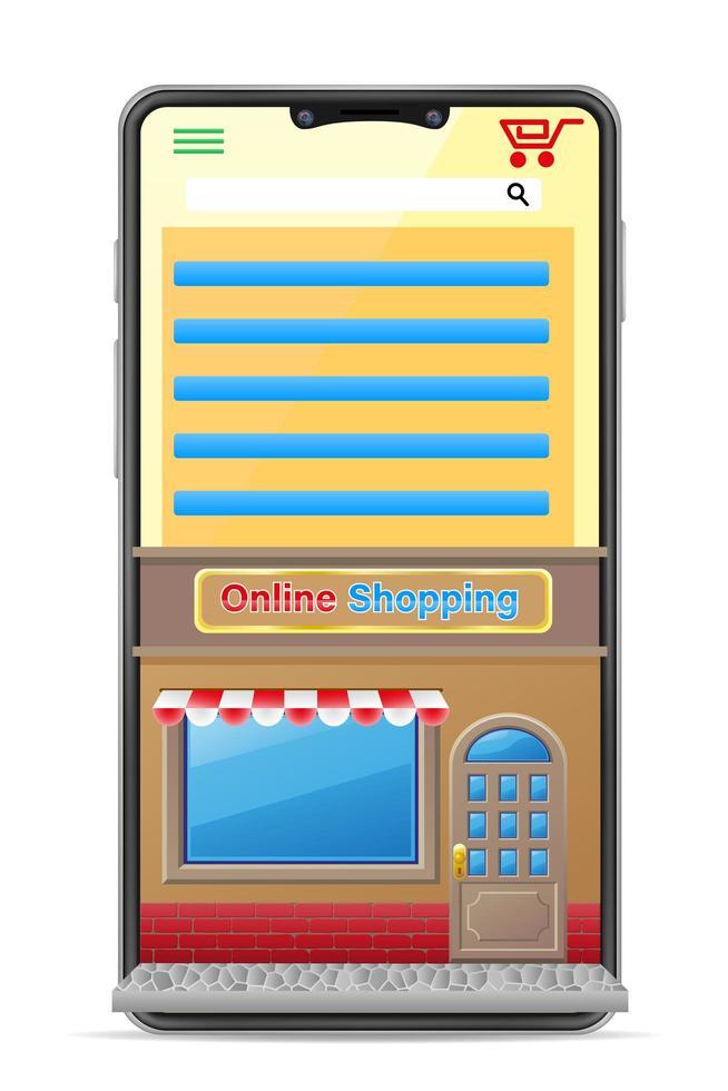 Smartphone-Konzept Online-Shopping vektor