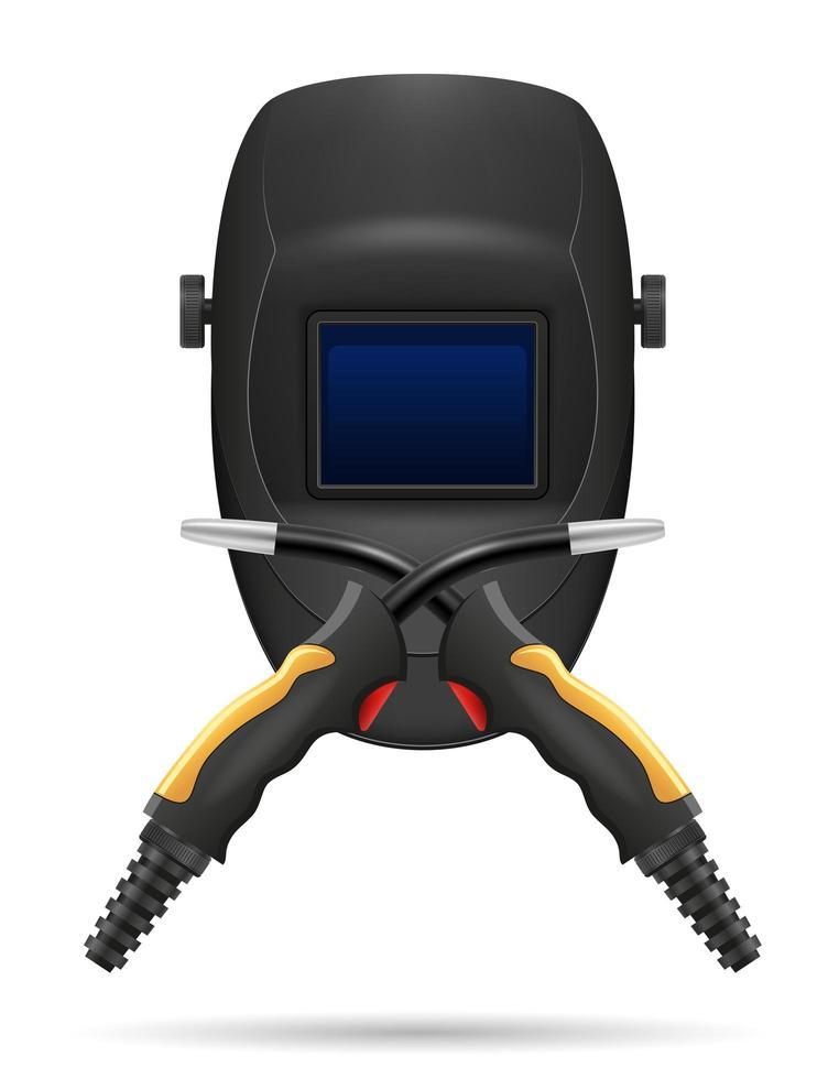 skyddsmask för svetsare och utrustning för gassvetsning vektor