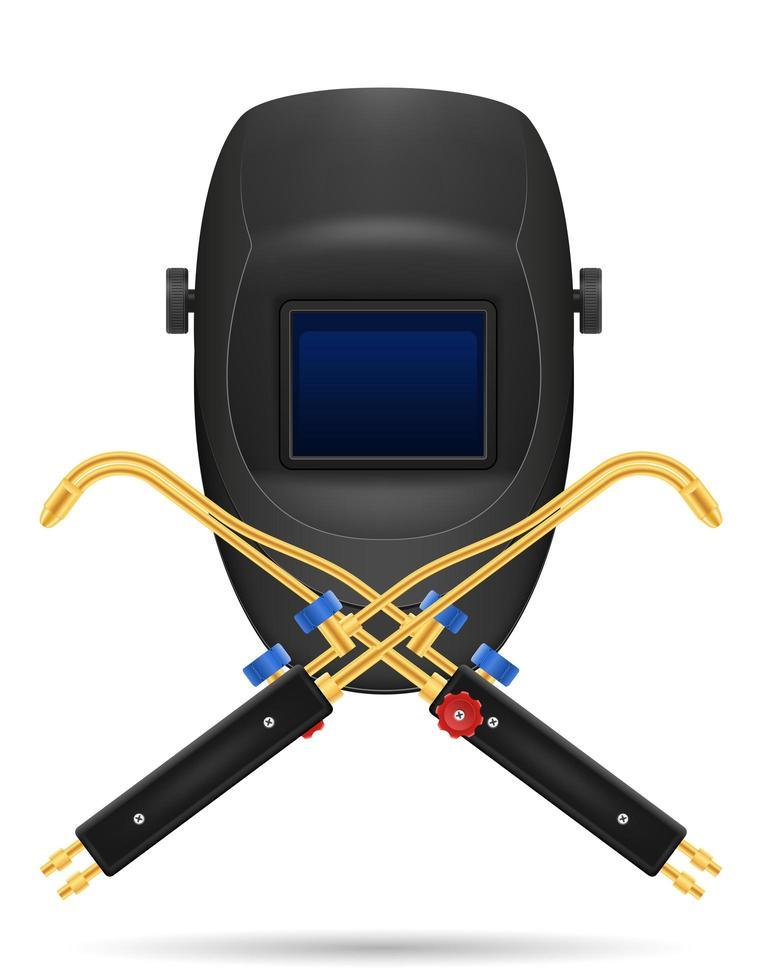 skyddsmask för svetsare och utrustning vektor