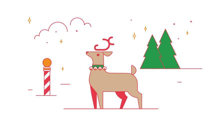 Julrenarvektor vektor