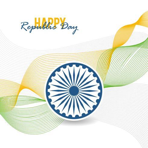 Glad Republic Day Background vektor