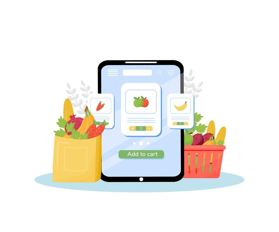 Gemüseladen online bestellen vektor