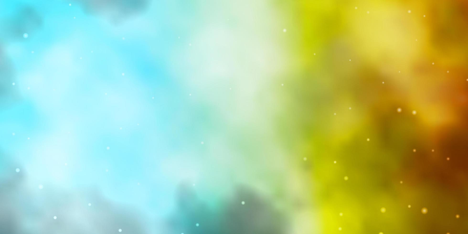 ljusblå, gul konsistens med vackra stjärnor. vektor