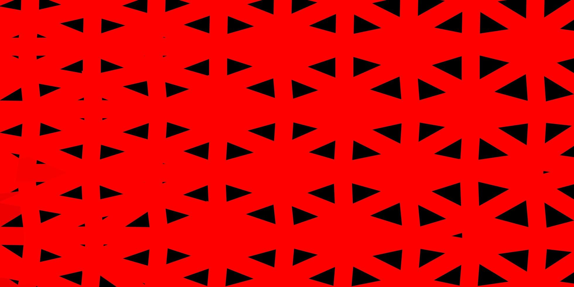 ljusröd triangel mosaik design. vektor