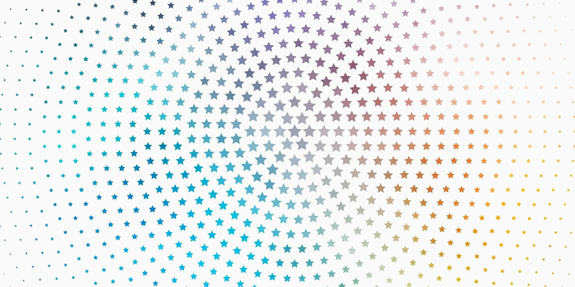 hellblaue, gelbe Textur mit schönen Sternen. vektor