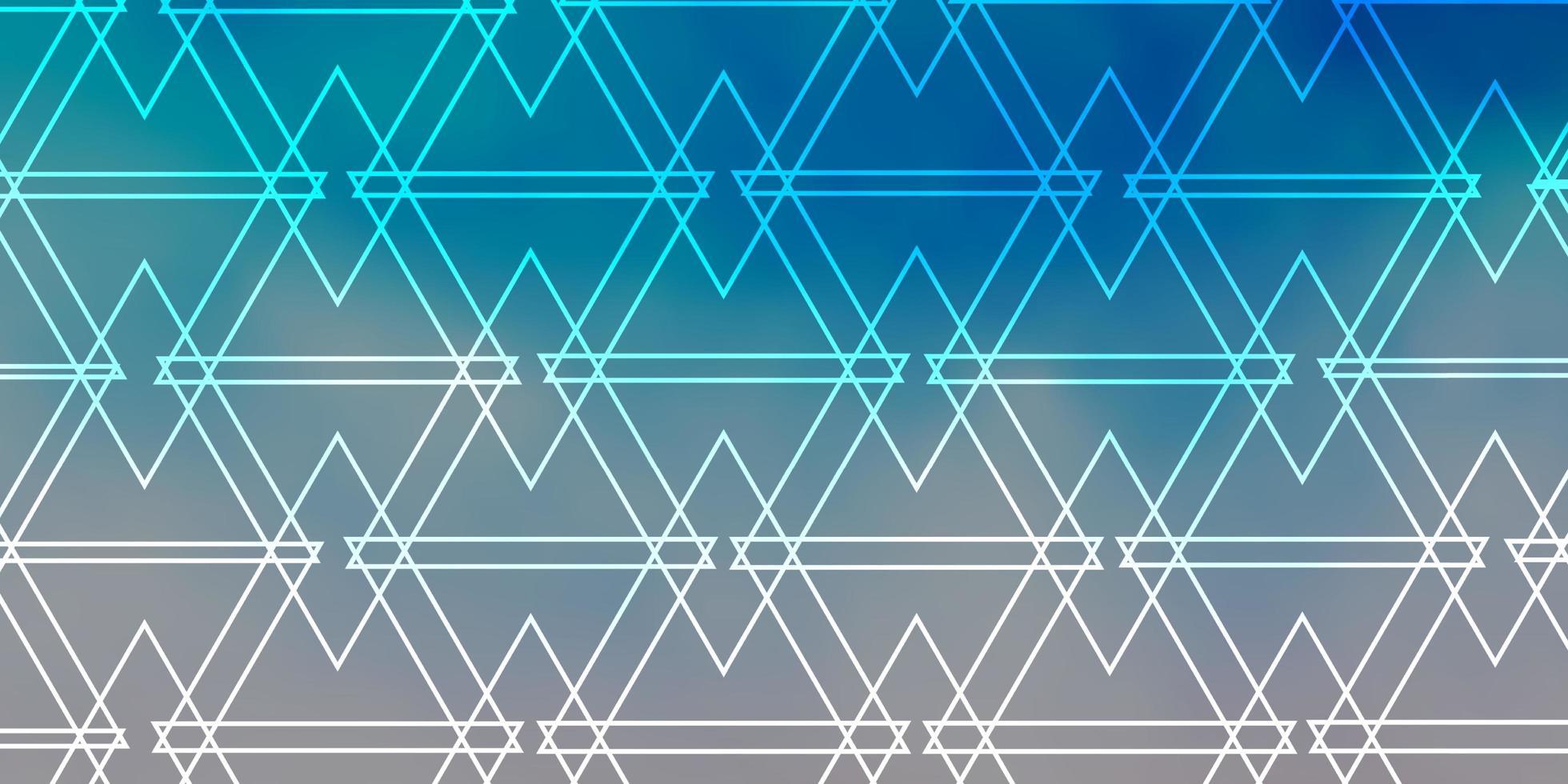 hellblauer Hintergrund mit polygonalem Stil. vektor
