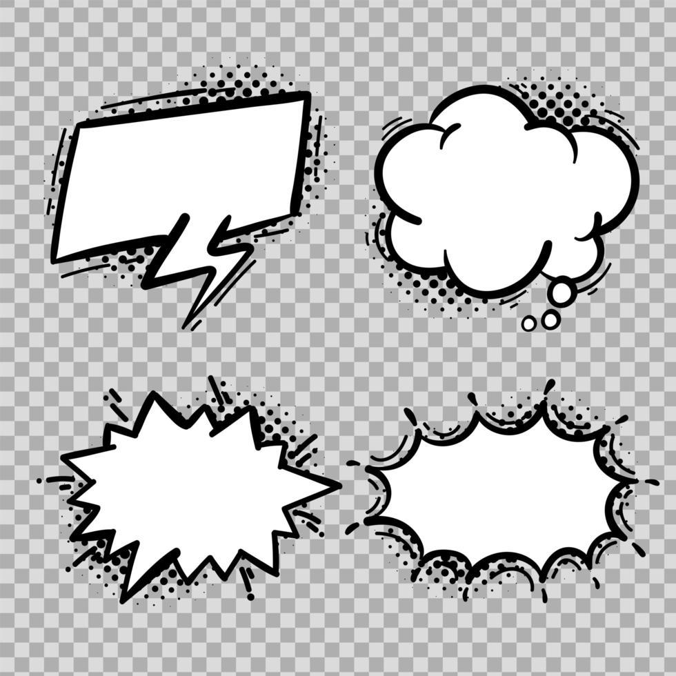 komisk pratbubbelsamling vektor