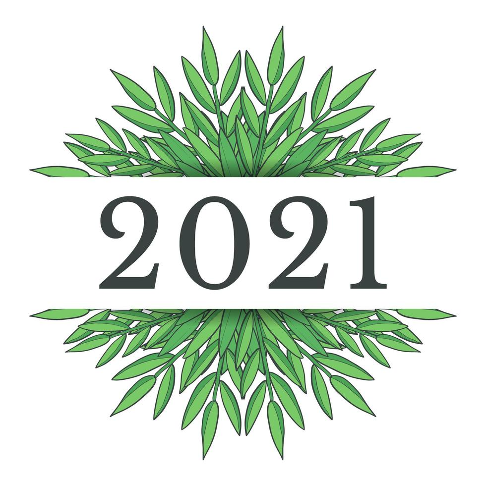 Neujahr 2021 Design vektor