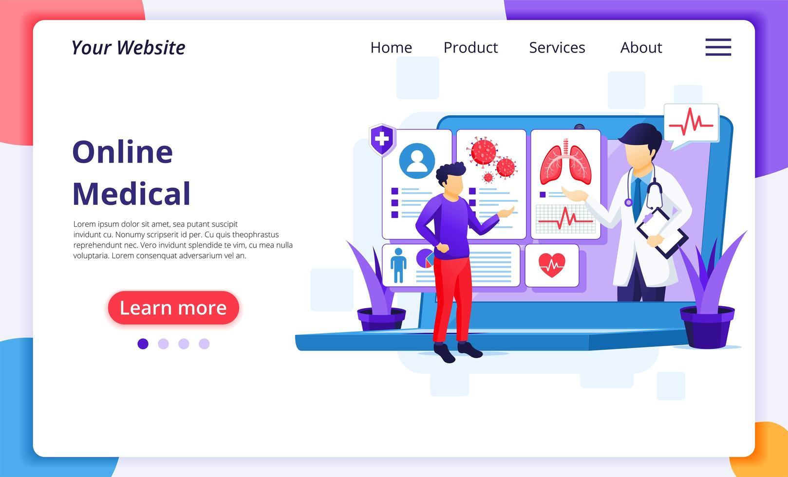 online medicinsk diagnostik vektor