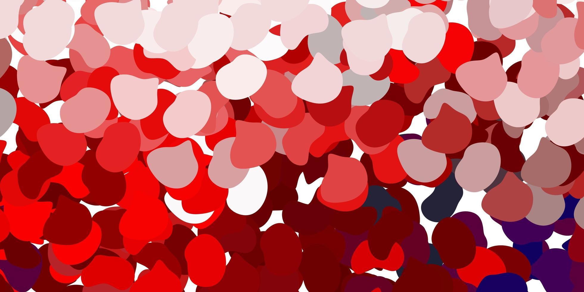 ljusrött mönster med abstrakta former vektor