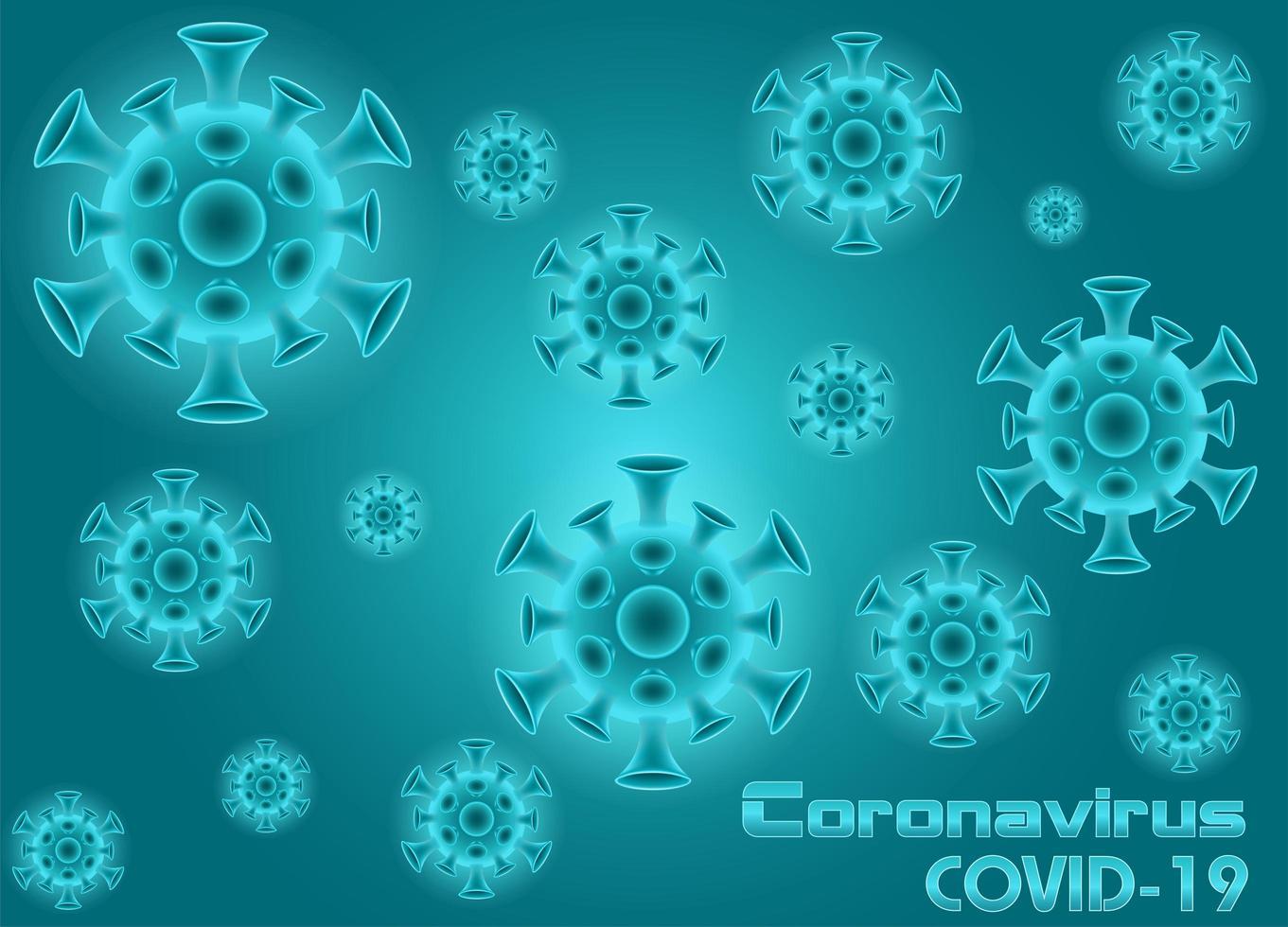 Pandemie Coronavirus Covid-19 Hintergrund vektor