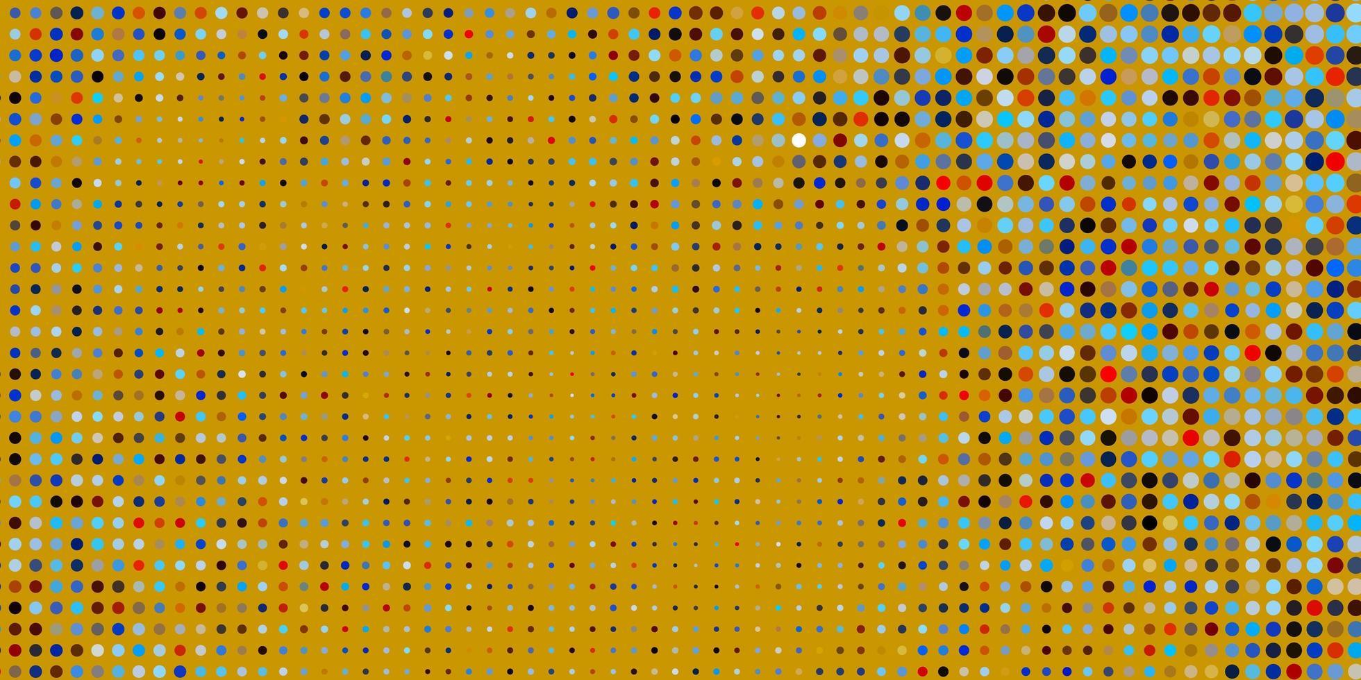 ljusblå, gul bakgrund med prickar. vektor