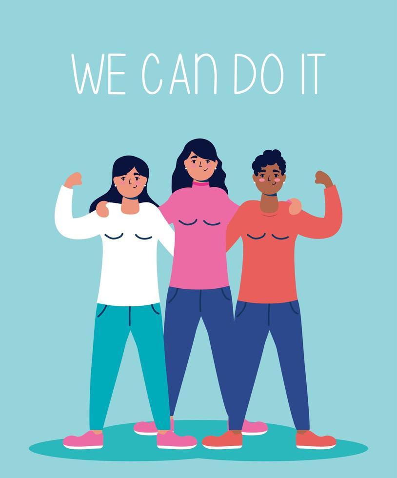 Wir können es gemeinsam mit Frauen tun vektor