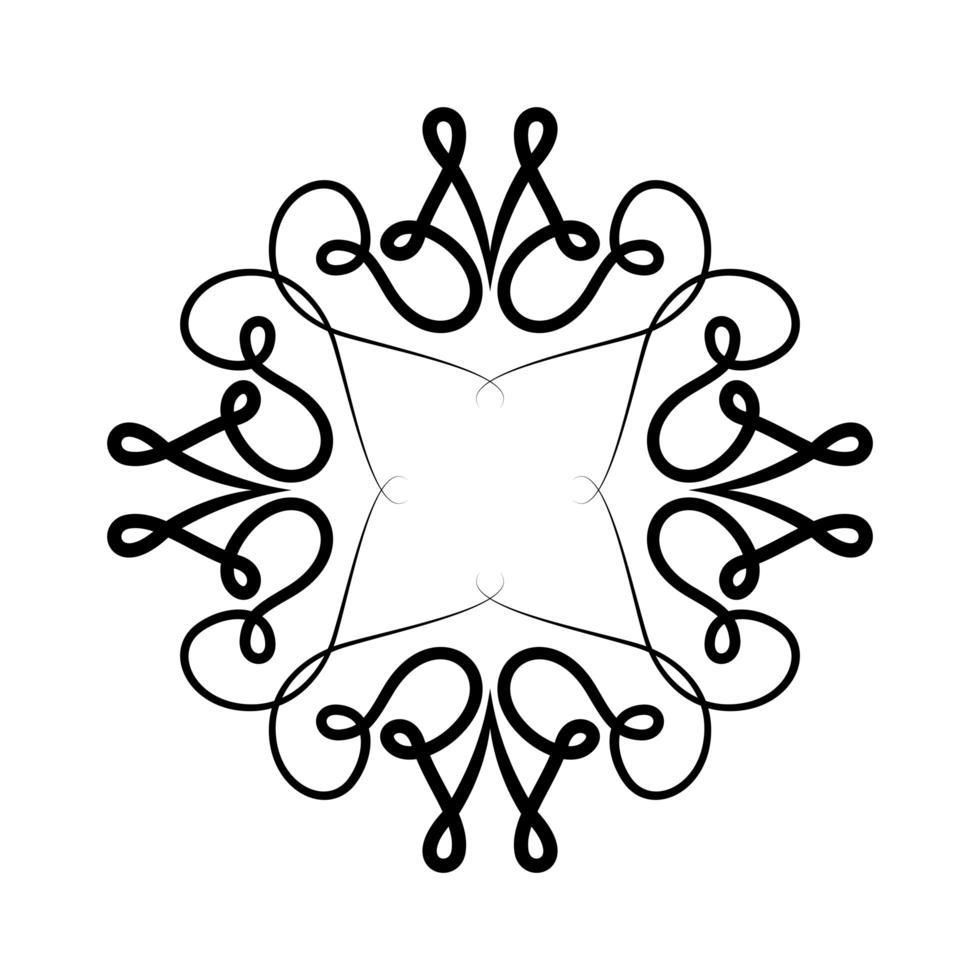 schwarzes Ornamentrahmen-Design vektor