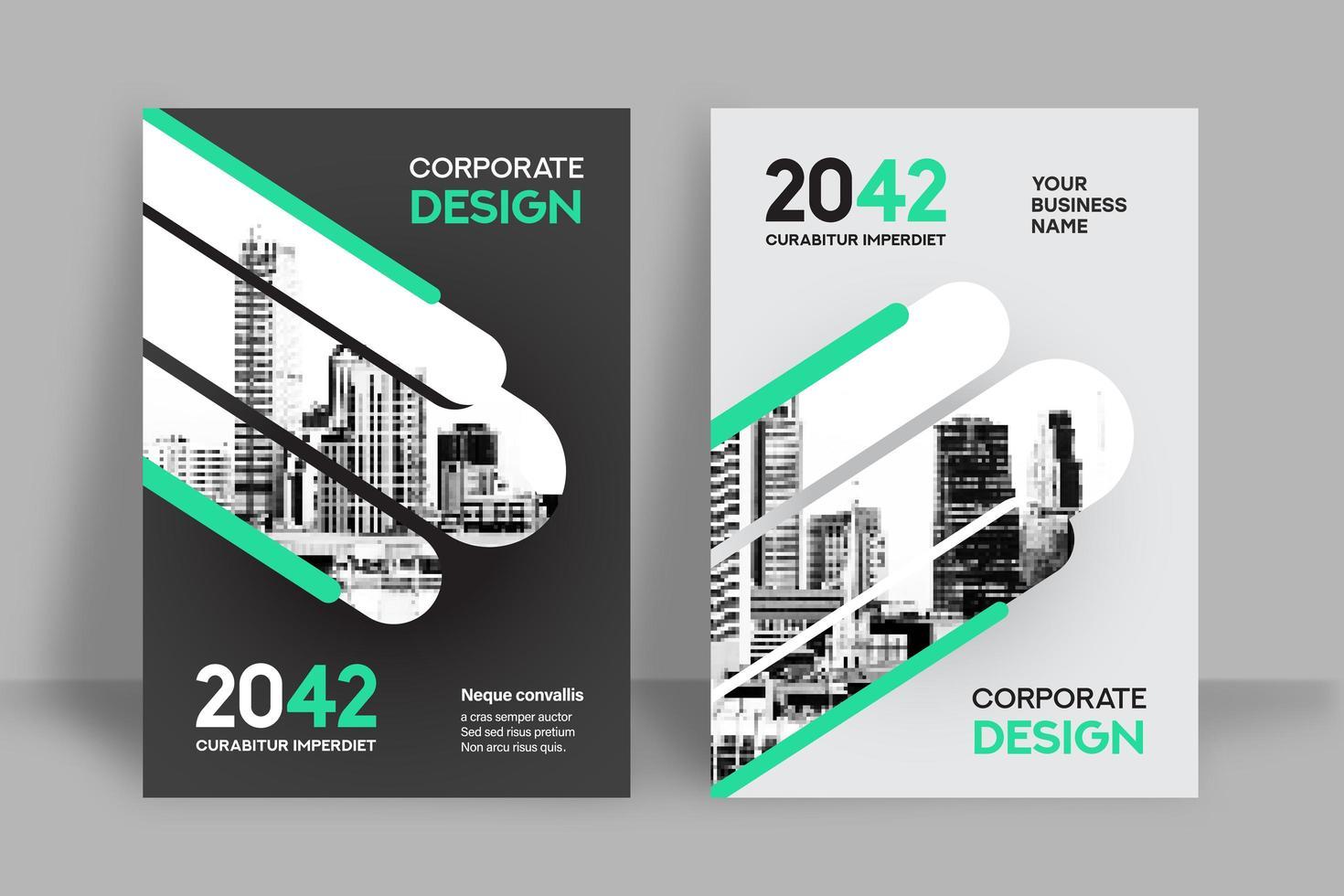 stadsmall för bakgrund för affärsbokomslag vektor