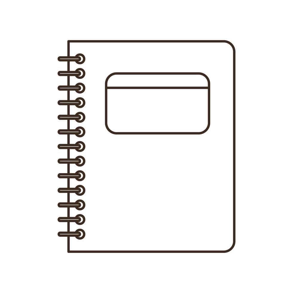 Schulbuch auf weißem Hintergrund vektor