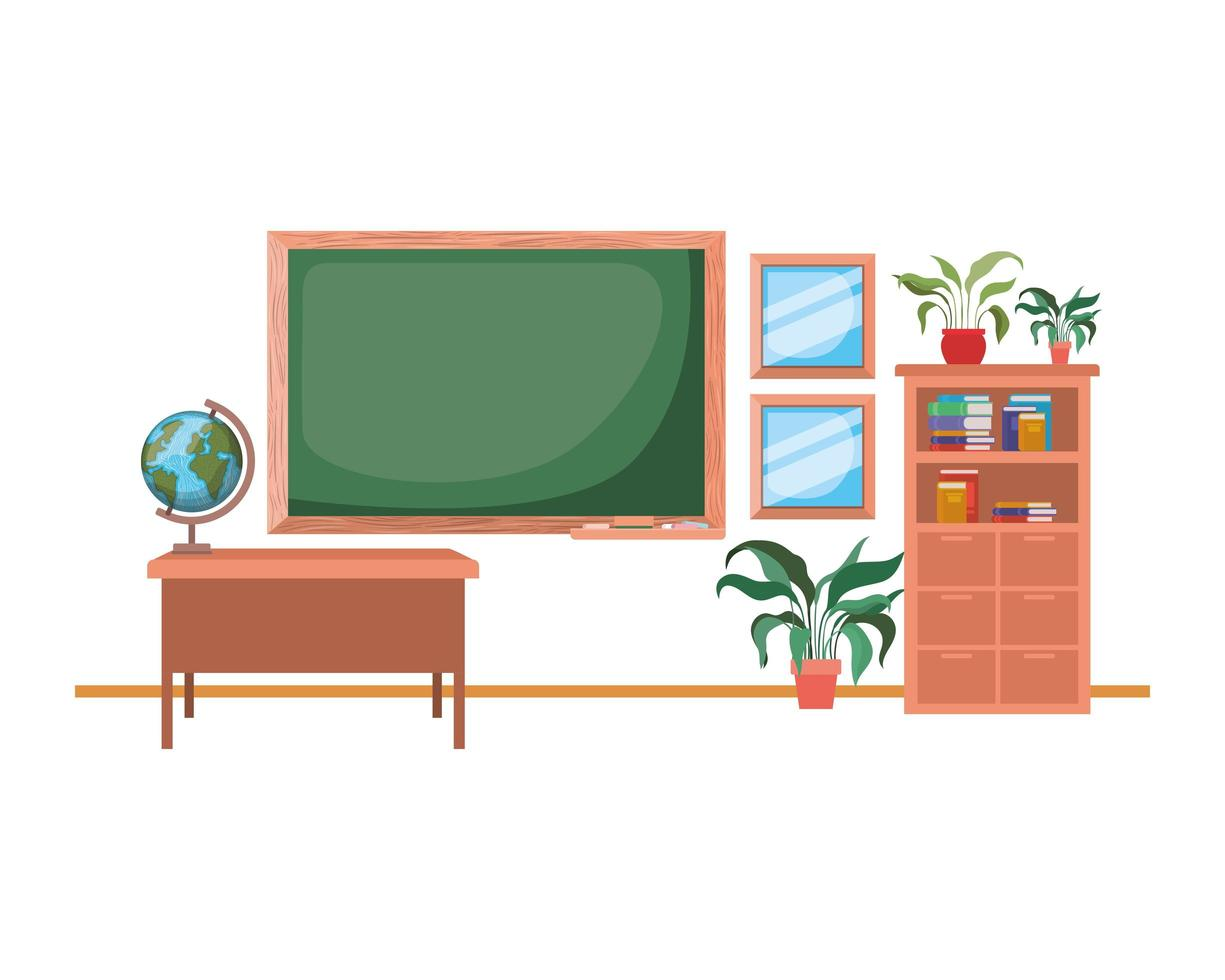 svarta tavlan i skolan i klassrummet vektor