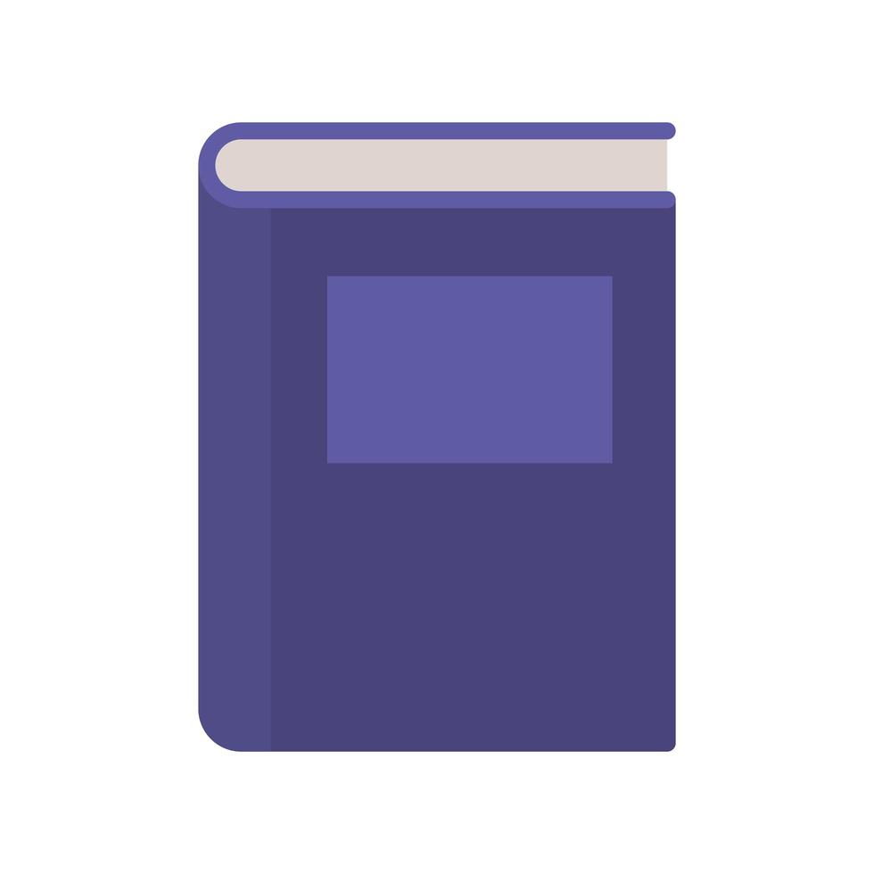 Schulbücher auf weißem Hintergrund vektor