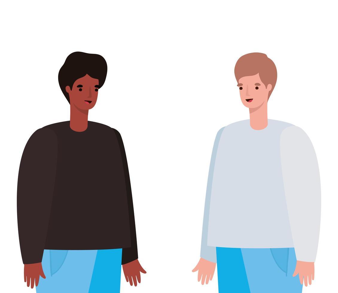 Männer Avatar Cartoon Design vektor
