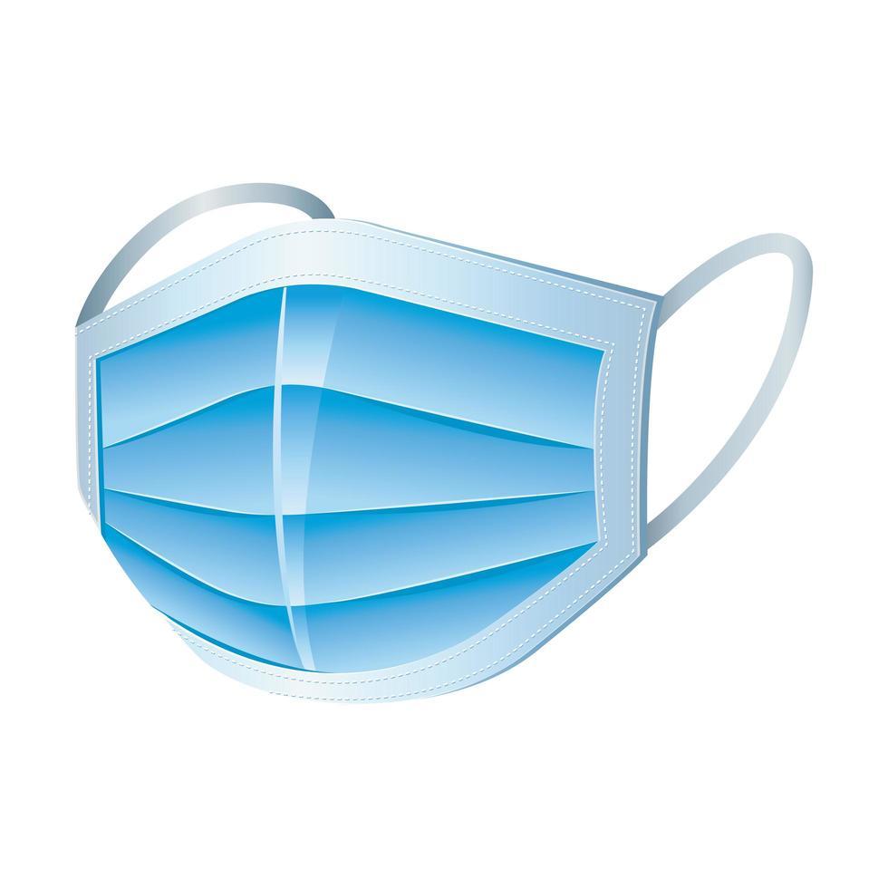 ansiktsmask blå ikon design vektor