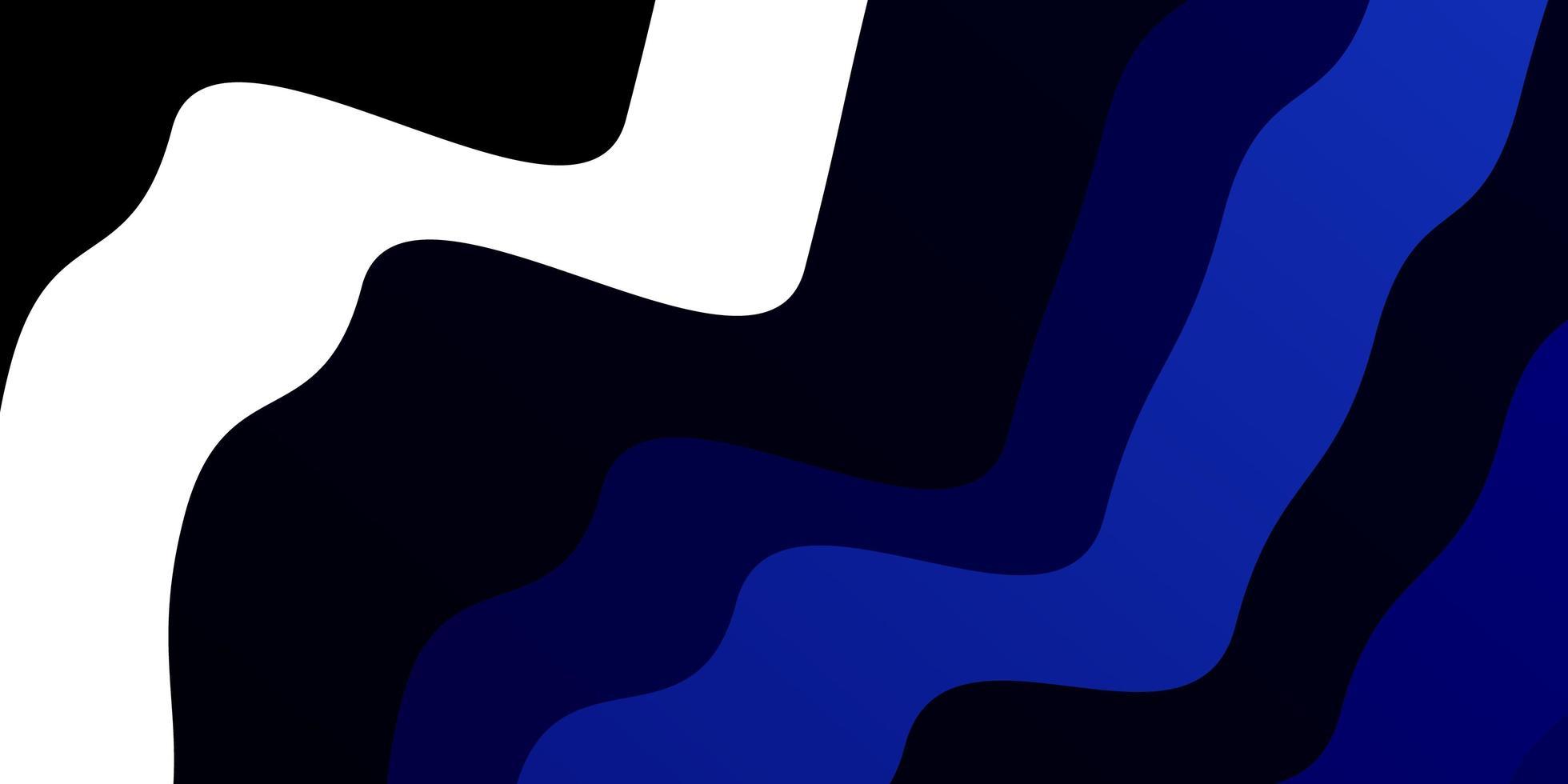 dunkelblaues Muster mit Kurven. vektor