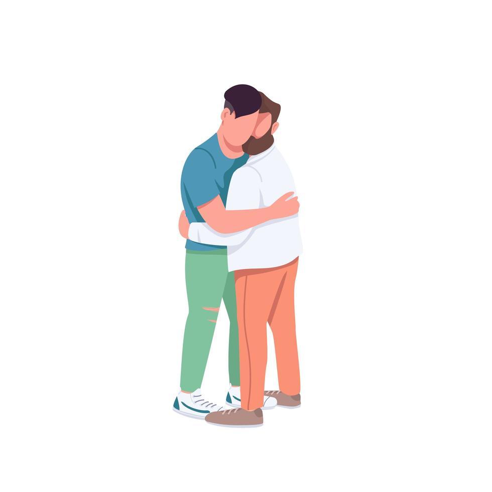 män som kramar varandra vektor