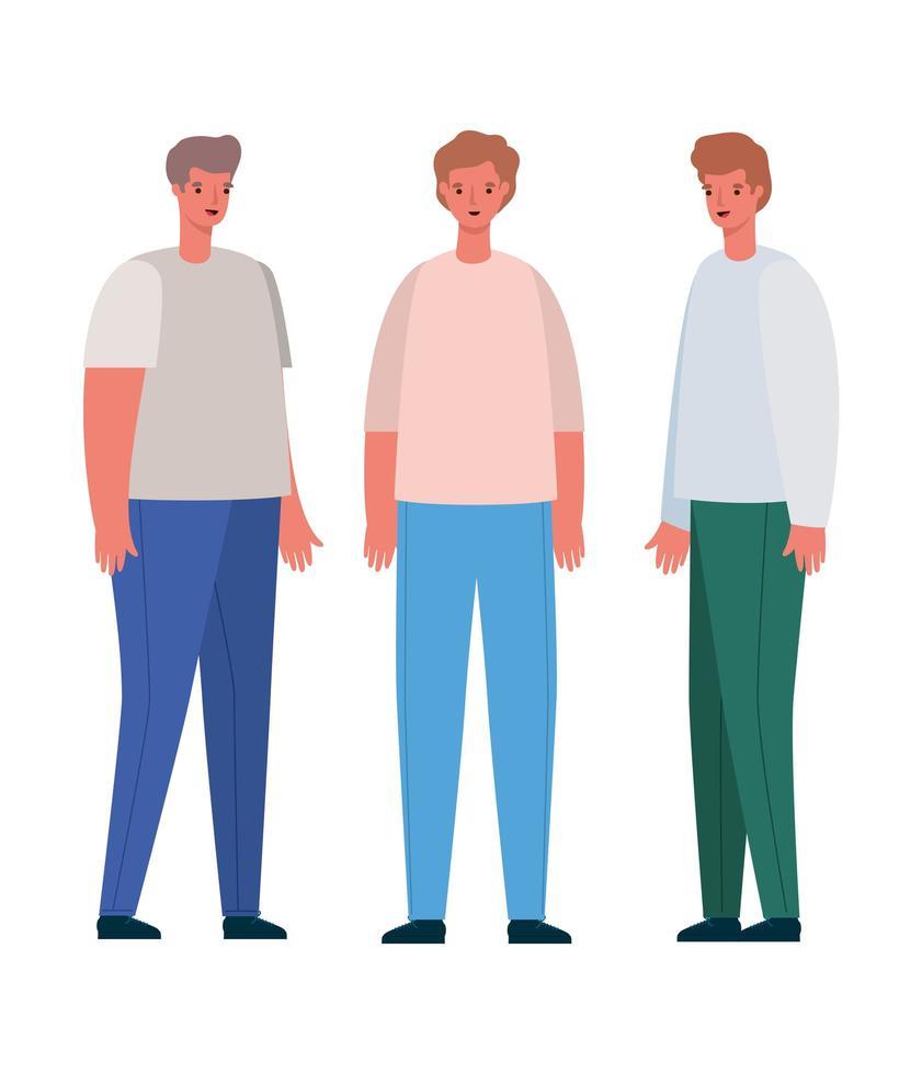 män avatar tecknad design vektor