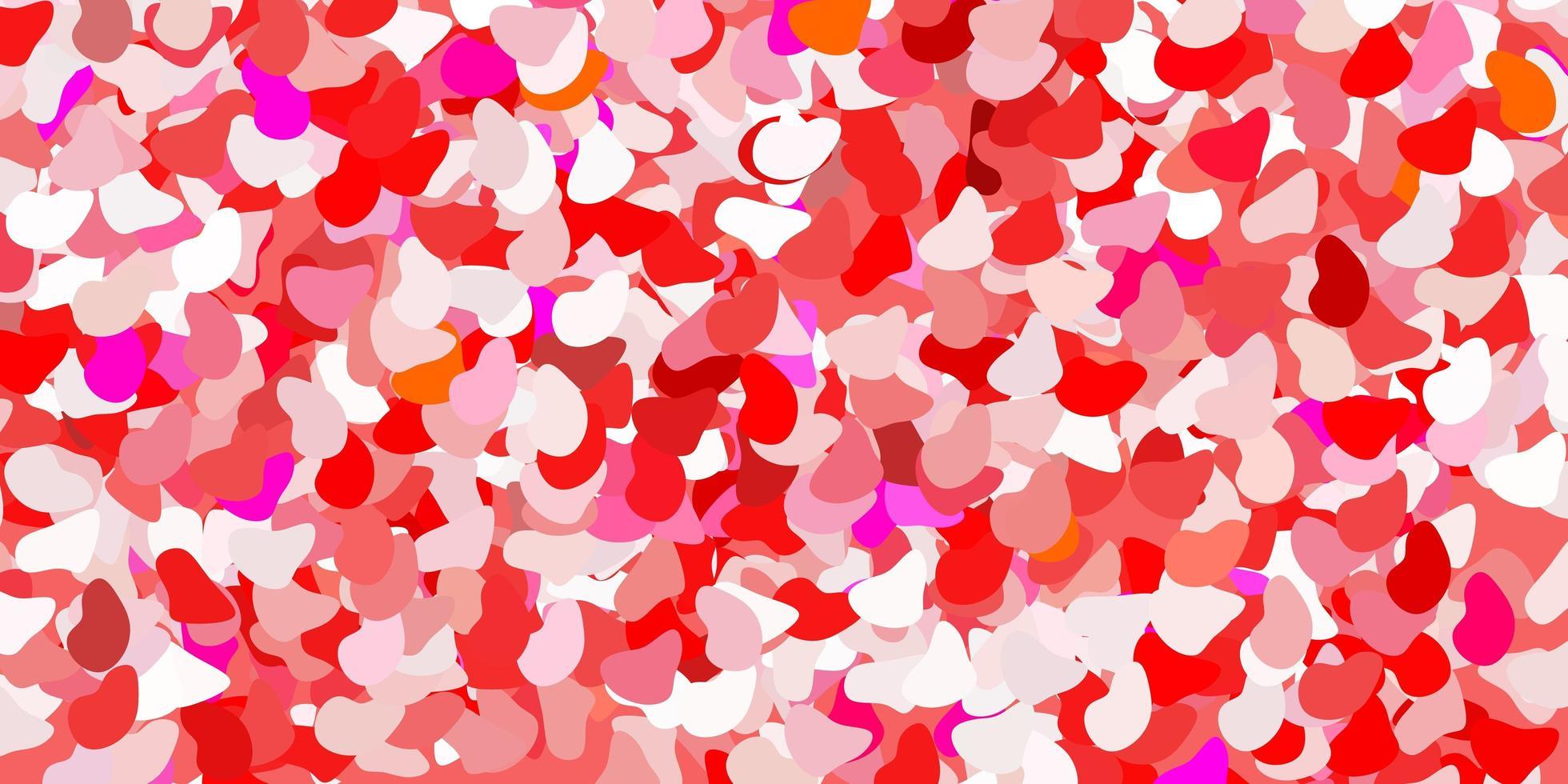 hellrotes Muster mit abstrakten Formen. vektor