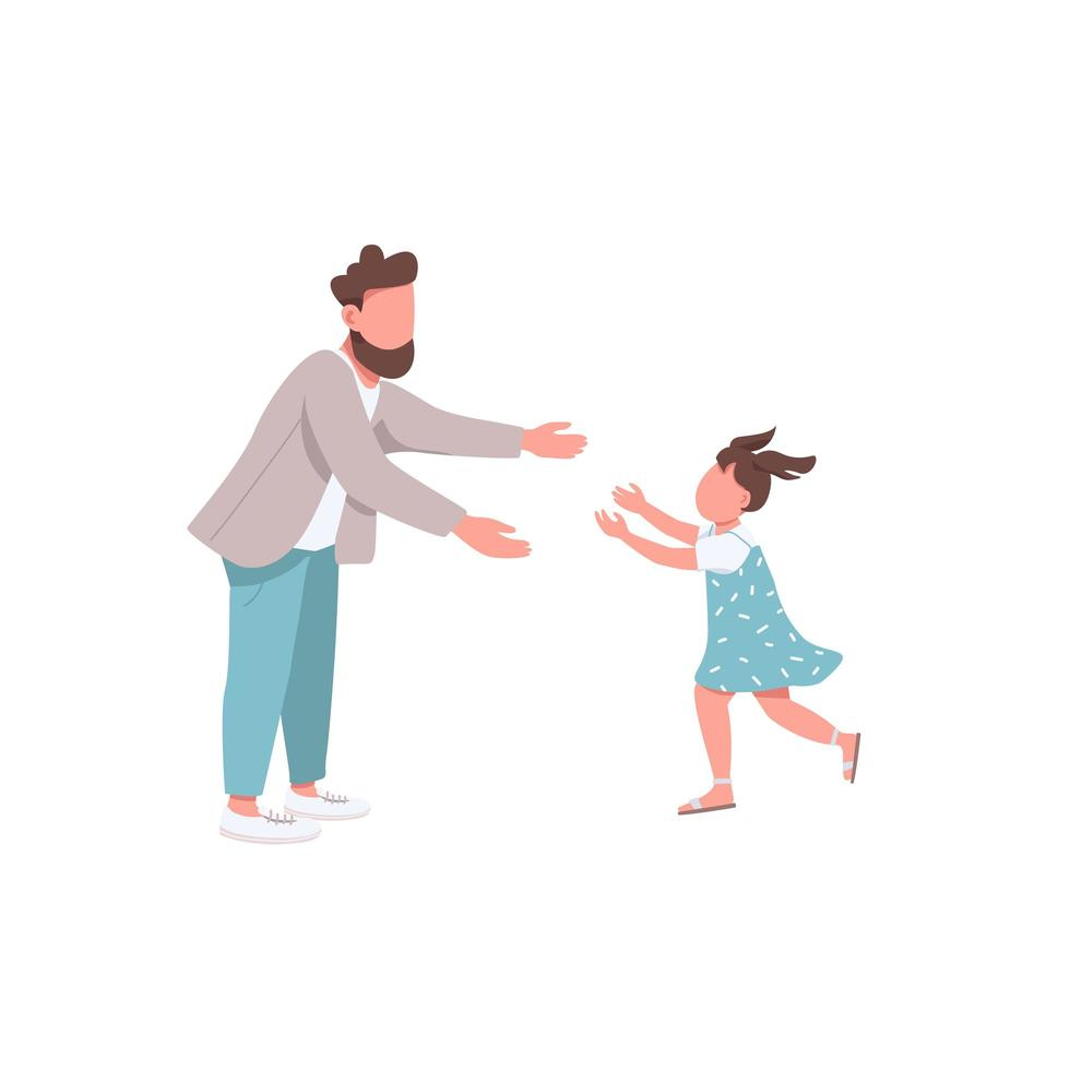 far med dotter vektor