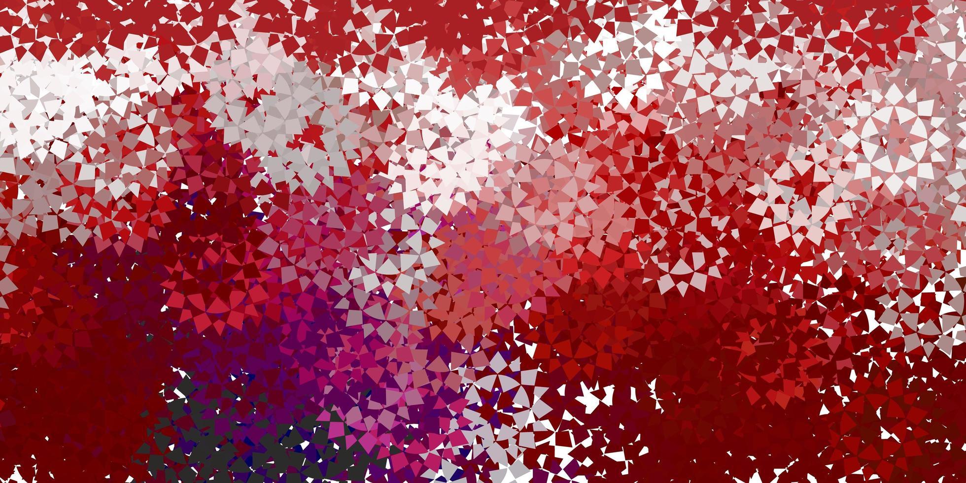 rote Textur mit dreieckigem Stil. vektor