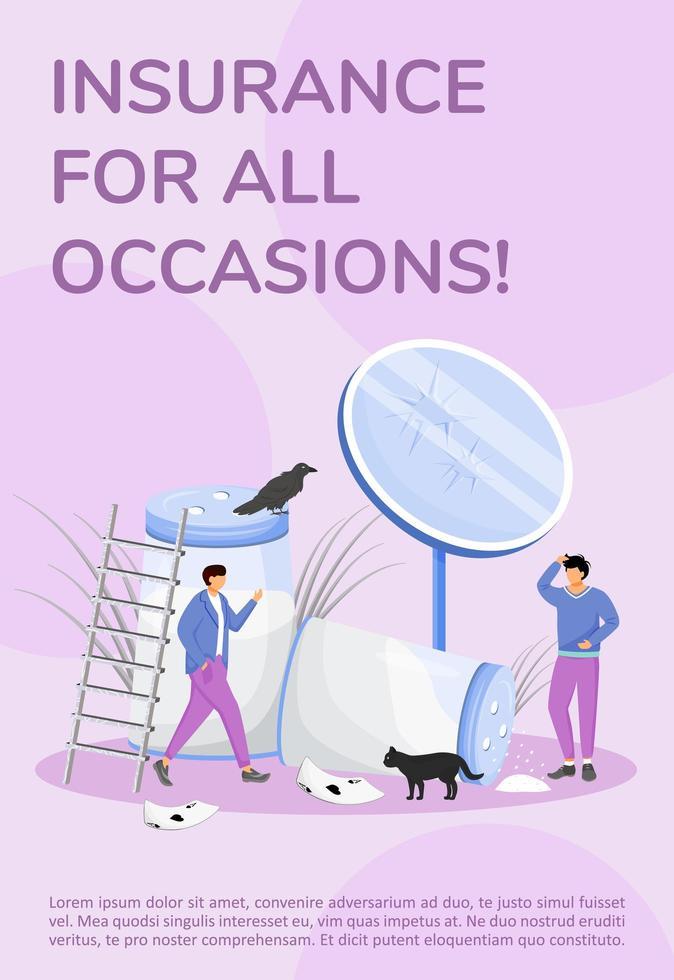 försäkring för alla tillfällen affisch vektor