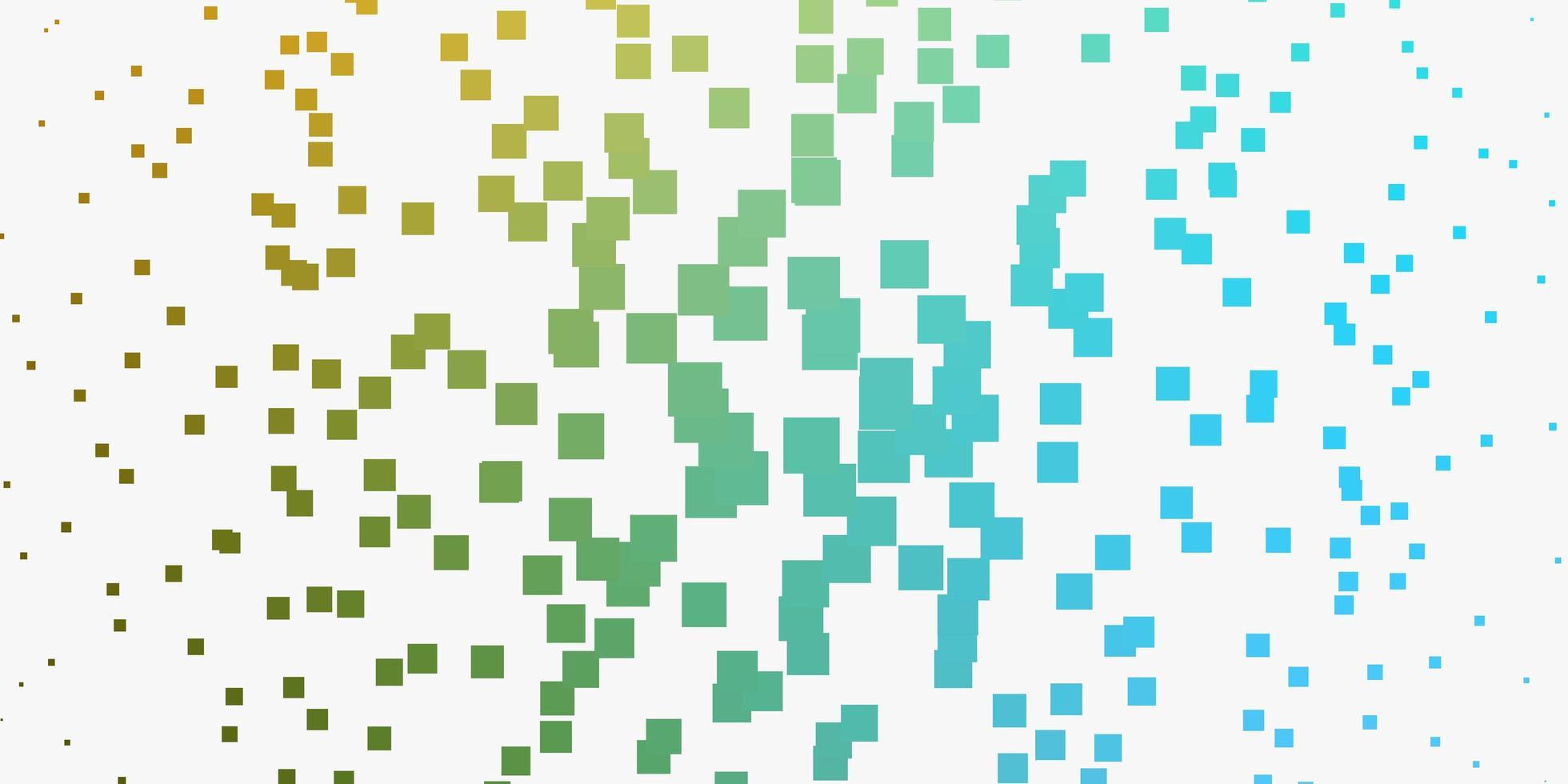 hellblaues, gelbes Layout mit Linien, Rechtecken. vektor