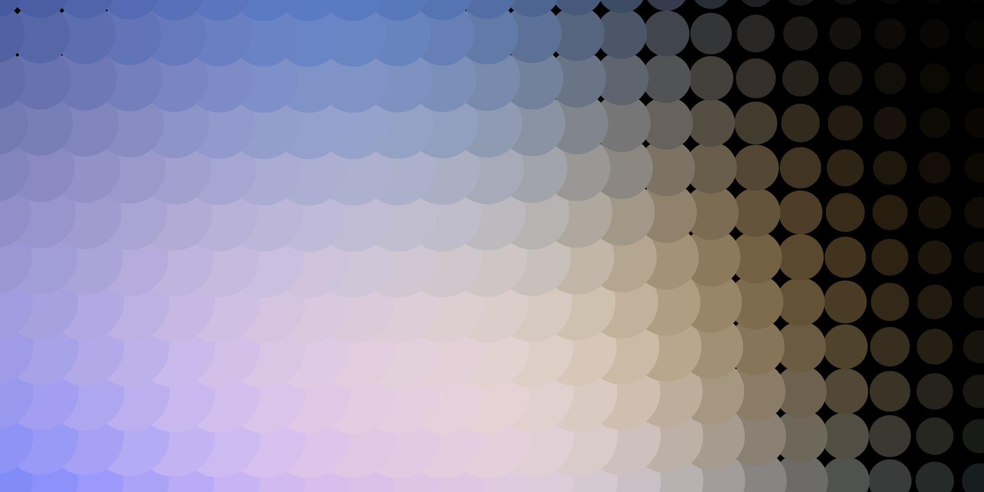 ljusblått, gult mönster med sfärer. vektor