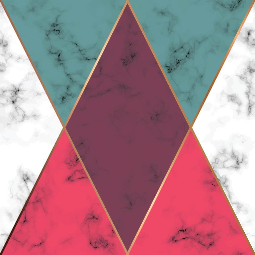 marmor textur design med gyllene geometriska linjer vektor