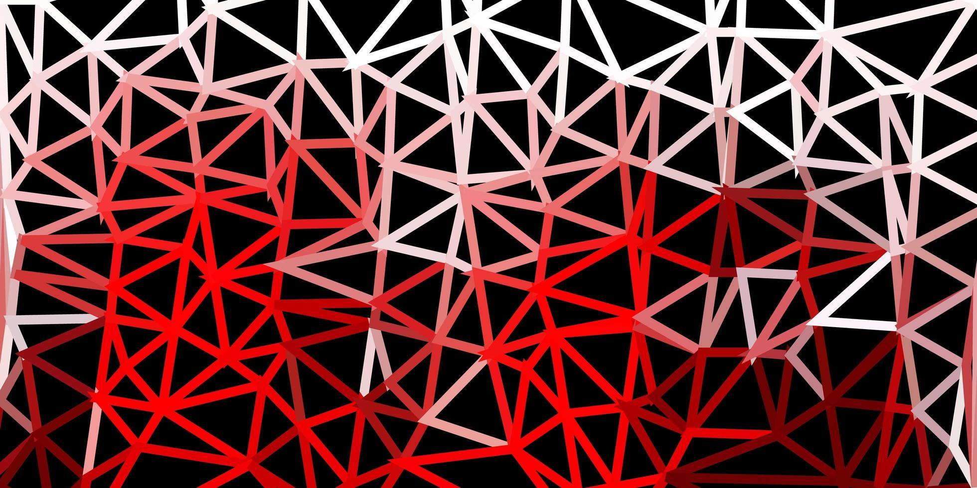 mörk röd poly triangel mall. vektor