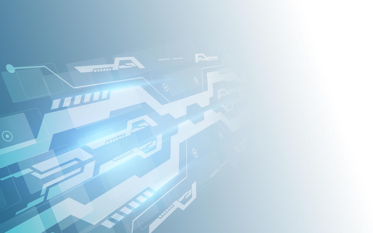 abstrakt digital högteknologisk teknikbakgrund vektor