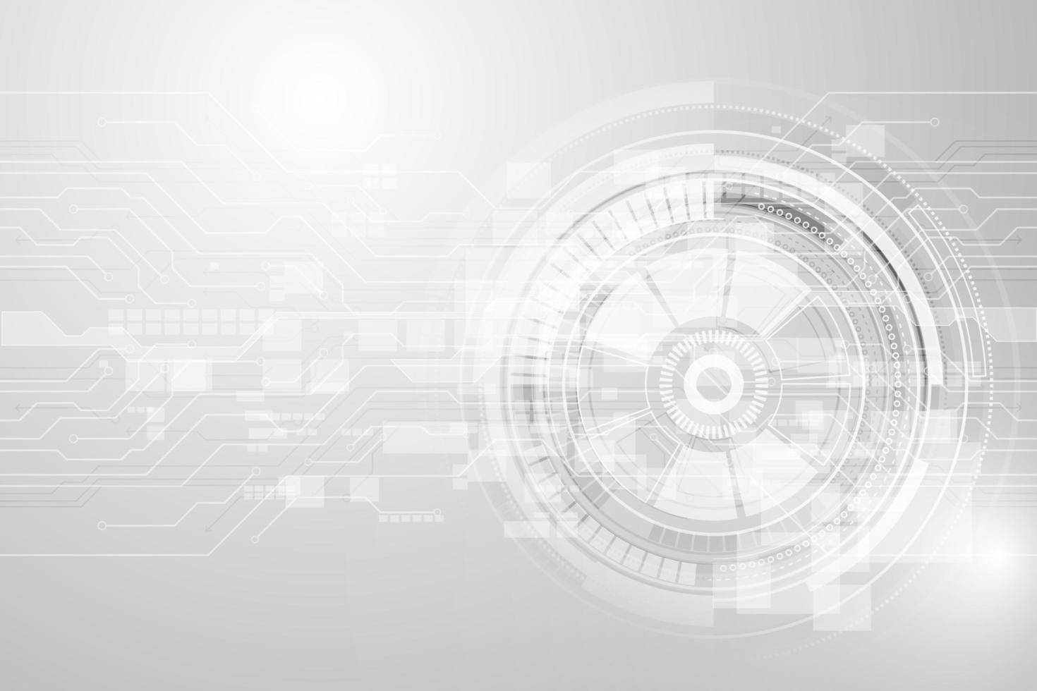 grå geometrisk teknologibakgrund med redskapformer vektor