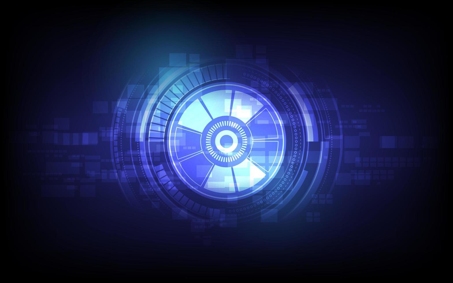 framtida teknikögonboll, säkerhetskonceptbakgrund vektor