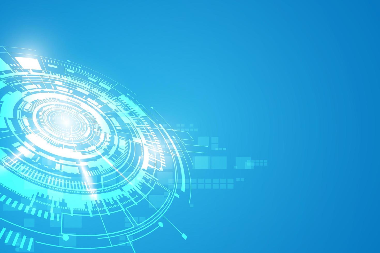 futuristischer Konzepthintergrund der Sci-Fi-Technologie vektor