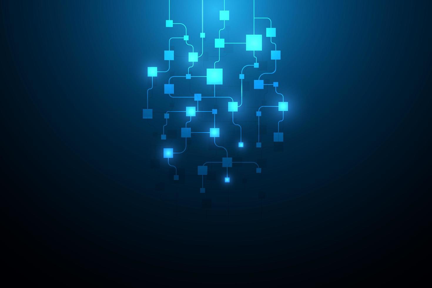 Hintergrund des abstrakten Schaltungsnetzwerk-Blockchain-Konzepts vektor