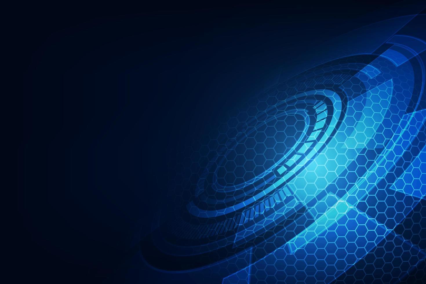 Vektor abstrakte Zukunftstechnologie, elektrischer Telekommunikationshintergrund