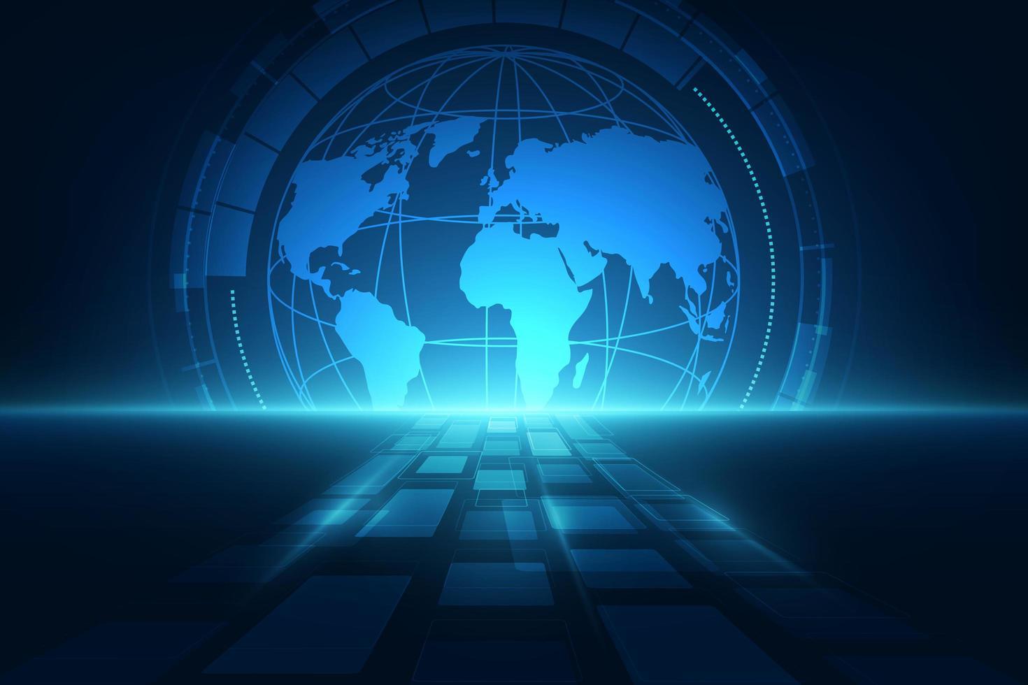 digitalt globalt teknologikoncept, abstrakt bakgrund vektor