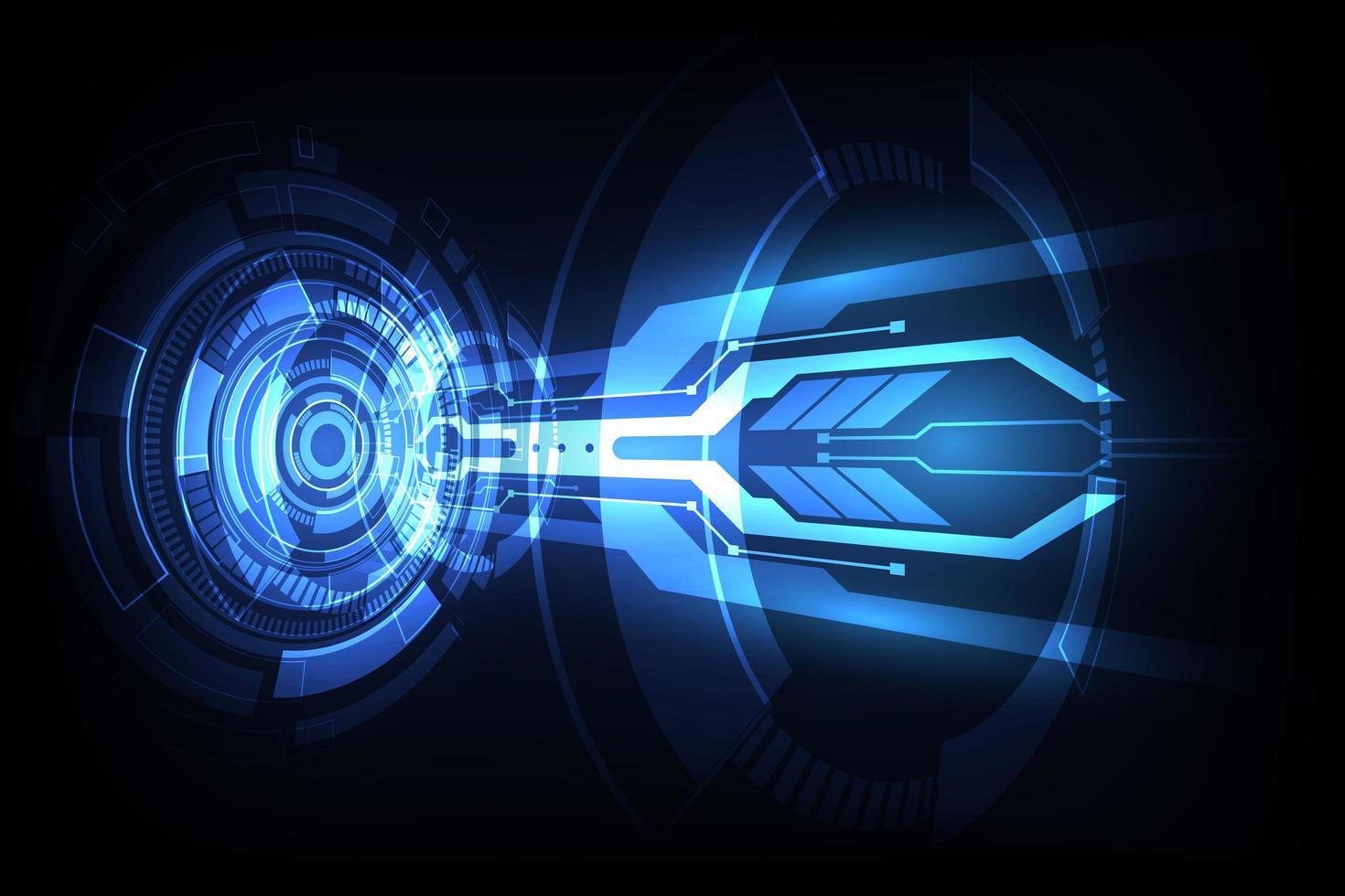 abstrakt vektor futuristiska blå anslutning hög digital teknik koncept. bakgrundsillustration