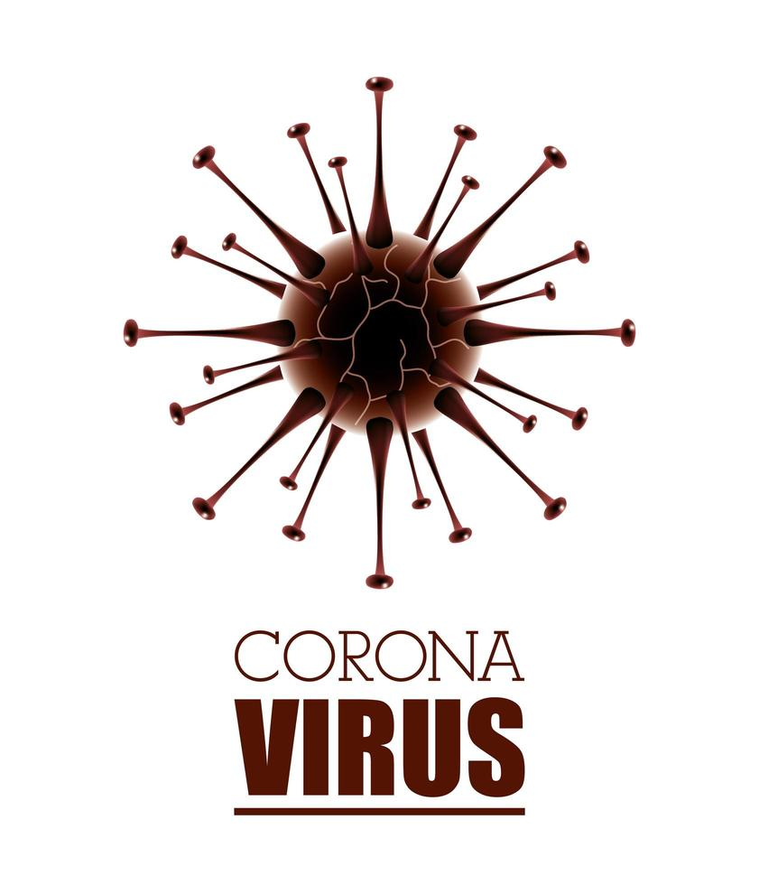 wissenschaftlicher weißer Bannerhintergrund des Coronavirus vektor